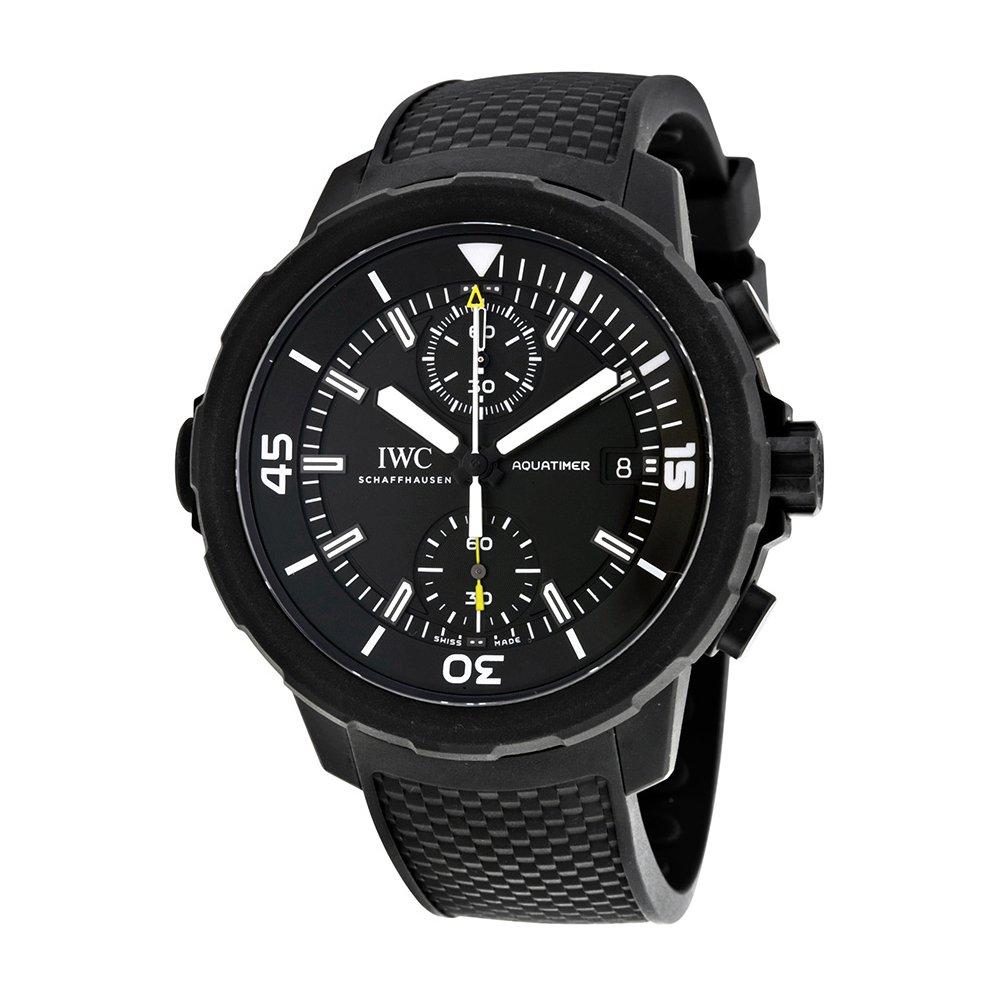 "IWC Aquatimer Chronograph Edition ""Galapagos Islands"", Black Watches, Swiss Made Watch, Automatic Watch"