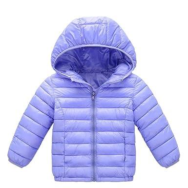 db0077257fa99 Doudoune Bébé Fille Garçon Enfants Blouson Manteau à Capuchon Automne Hiver  Chaud Veste de Coton BaZhaHei: Amazon.fr: Vêtements et accessoires