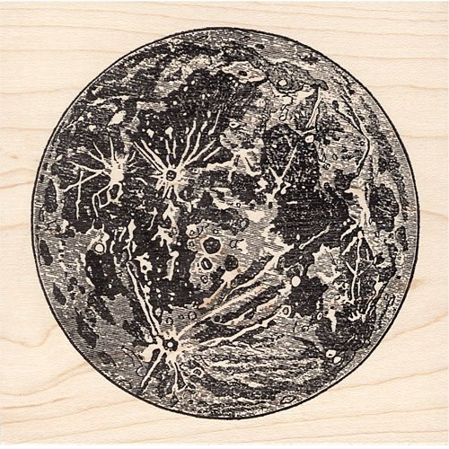 Large Moon Rubber Stamp Beeswax Rubber Stamps