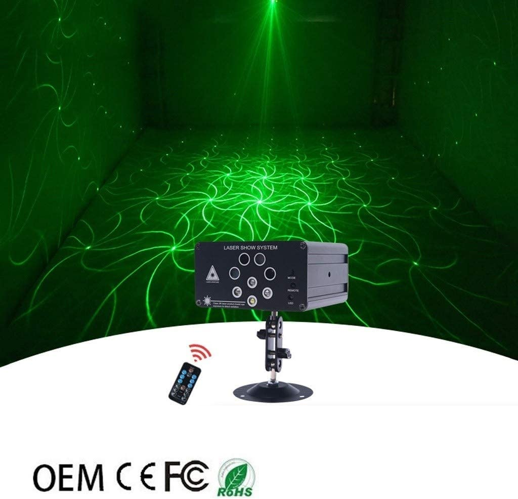 Disco Lights,8-hole LED Mini New 128 In One Pattern Full Color Light For KTV Stage Light TWQtwq
