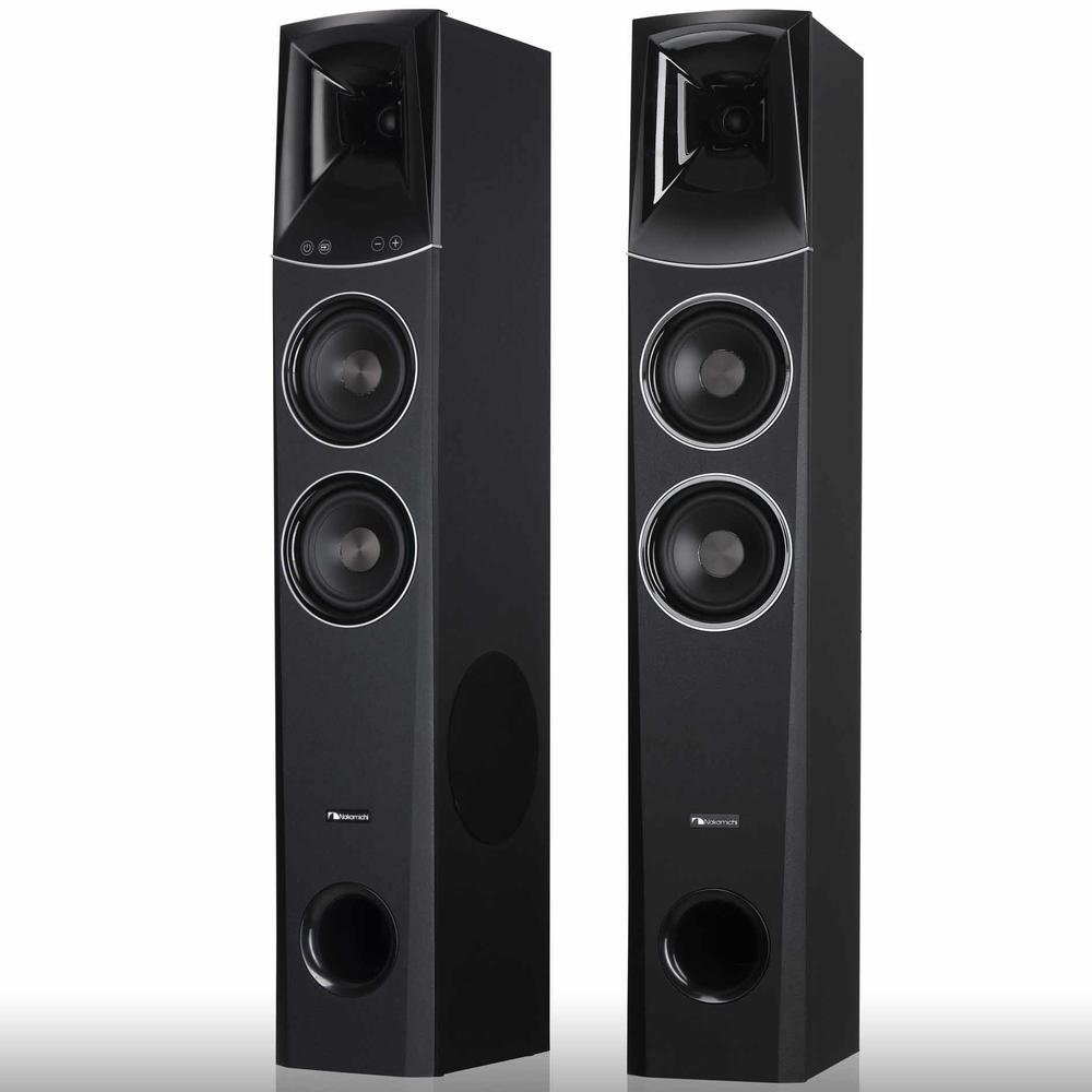 Nakamichi Tower Speakers 2-Piece 2.2-Channel 500-Watt Bluetooth Home Theater System with HDMI, 3.5mm Aux and USB, Black, TWSPKR (Certified Refurbished)
