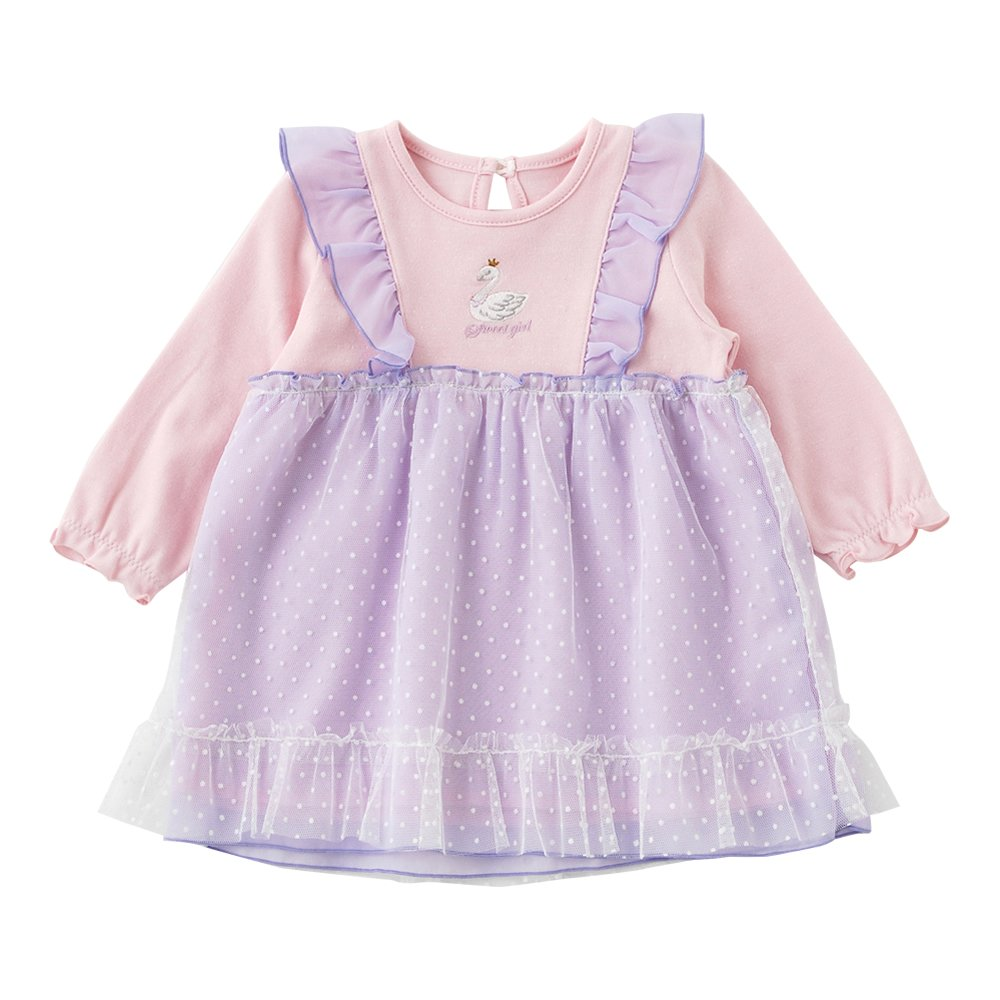 Baby Girl Bubble Dress 6-9 Mos Mini Club Sueded Pink