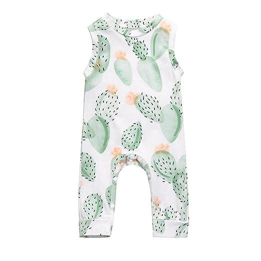 b7e0371579e7 Amazon.com  Napoo Clearance Baby Girl Boy Cactus Floral Sleeveless ...