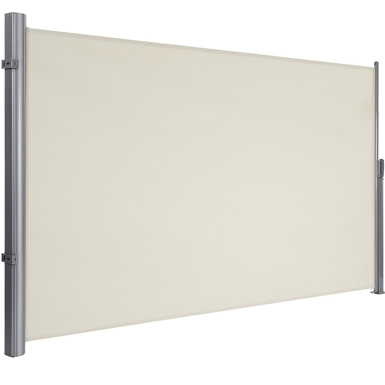 H x L Store lat/éral extractible Brise-Vue Pare-Soleil Certifi/é par T/ÜV S/ÜD Tissus en Polyester 280g//㎡ Beige GSA160E SONGMICS 160 x 300 cm