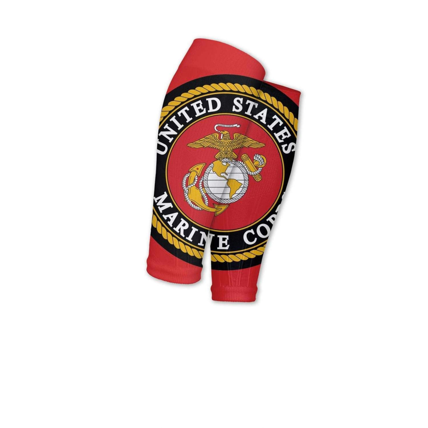 Smilelolly Usmc Marine Corps Flag Calf Compression Sleeves Helps Faster Recovery Leg Sleeves For Men Women