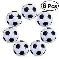 TOYMYTOY Table Football Balls - Replacement Mini Soccer Balls 32 mm Diameter 6 Pcs