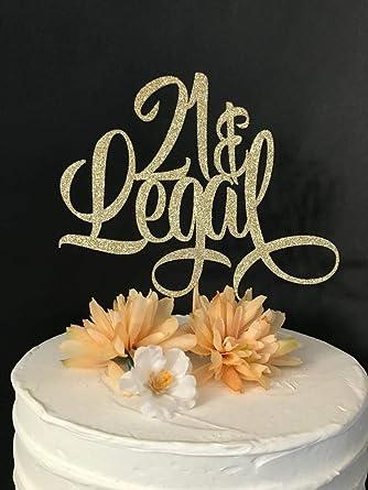 21 y decoración legal para tartas, decoración para tarta de ...