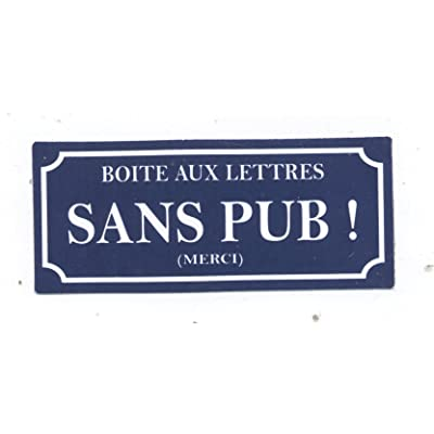 1 STICKER BOITE AUX LETTRES SANS PUB ! 7X3,5 CM AUTOCOLLANT STOP PUBLICITE Cuisine & Maison