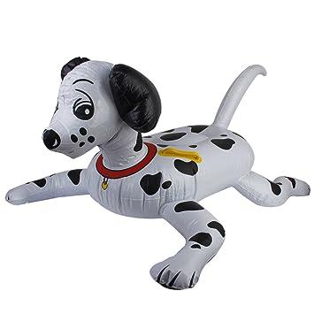 Blanco con manchas negras hinchable de Blow Up Perros juguete ...