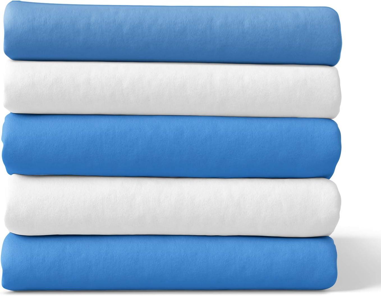Lavable /à 95 /°C tissu flanelle pour nouveau-n/é Serviette 80 x 80 cm Melunda Lot de 5 Langes B/éb/é en Mousseline 100/% Coton Sans substance nocive Oeko-TEX/® Standard 100 cadeau de naissance