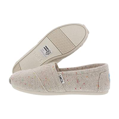 TOMS Womens Classic Cream with Rainbow Fleck Wool Cloud/Cream Slip-On - 6 | Loafers & Slip-Ons