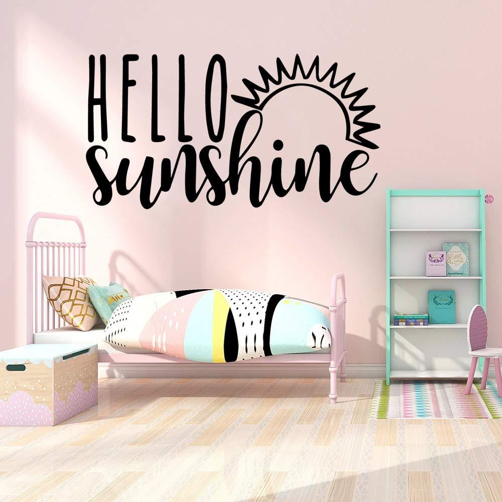 mlpnko Hermosa Hello Cartoon Wall Sticker Art Living Room Company ...