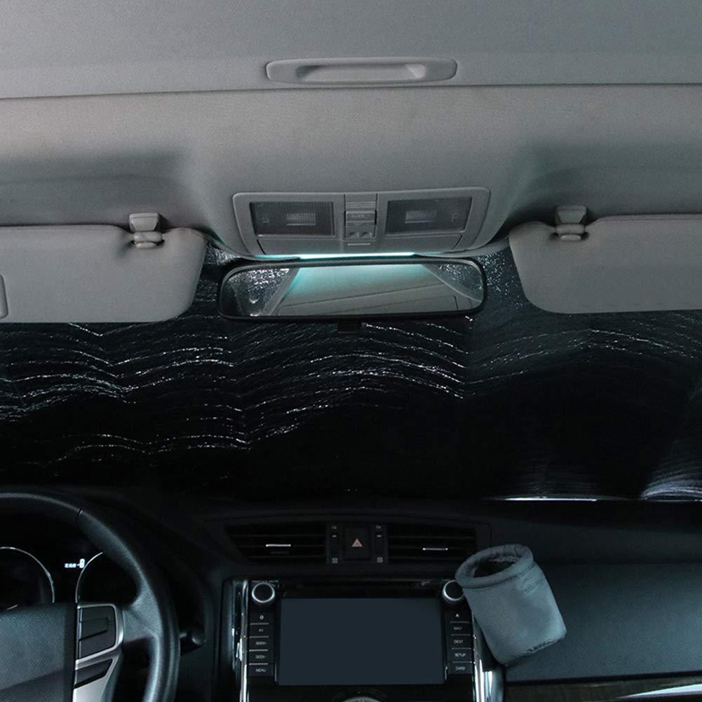 NAttnJf Faltbare Auto windschutzscheibe Sonnenschutz Laser verdicken Anti-uv Staub Regen Schutz 130x60cm