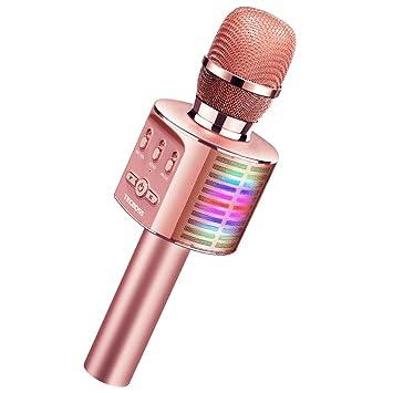 Amazon.com: TECBOSS Micrófono para niños, juguetes para niña ...