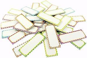 "SpriteGru Big Magnetic Dry Erase Labels Name Plates White Board 32 Labels 8 Colors,5.5"" x2"""
