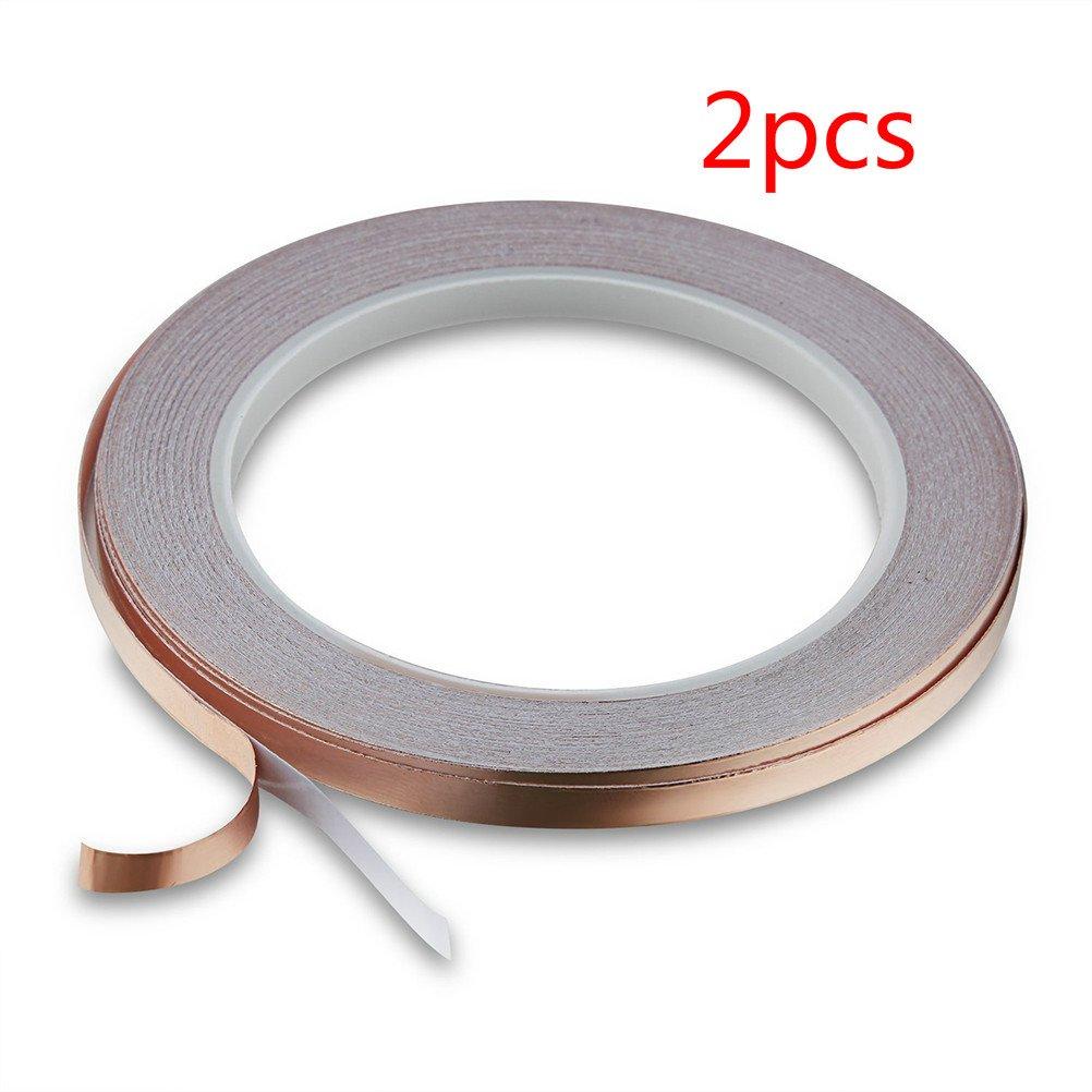 2 Stü ck EMI Abschirmband UEETEK Selbstklebend Kupferband fü r Elektrische Reparaturen EMI Abschirmung 30M x 6MM