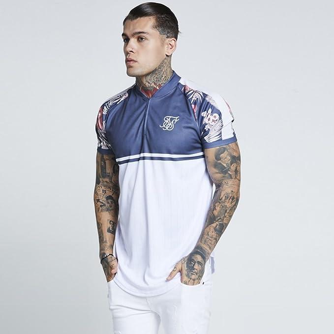 Sik Silk Hombre Camiseta de béisbol Hazey Daze, Azul, X-Small: Amazon.es: Ropa y accesorios