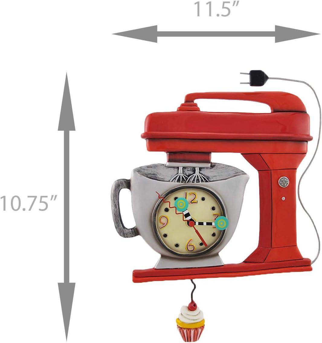 Allen Design Studios Vintage Mixer Green Mixer Kitchen Wall Clock