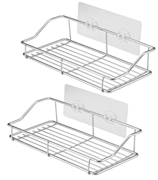 Amazon.com: PENGKE - Estante de ducha adhesivo para pared (2 ...