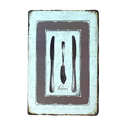Kentop - Cartel decorativo de metal para puerta: Amazon.es ...