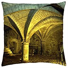 """Gothiques Caves - Throw Pillow Cover Case (16"""" x 16"""")"""