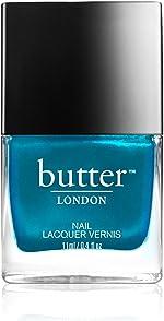 butter LONDON Seaside Nail Lacquer Polish, Metallic Aquamarine