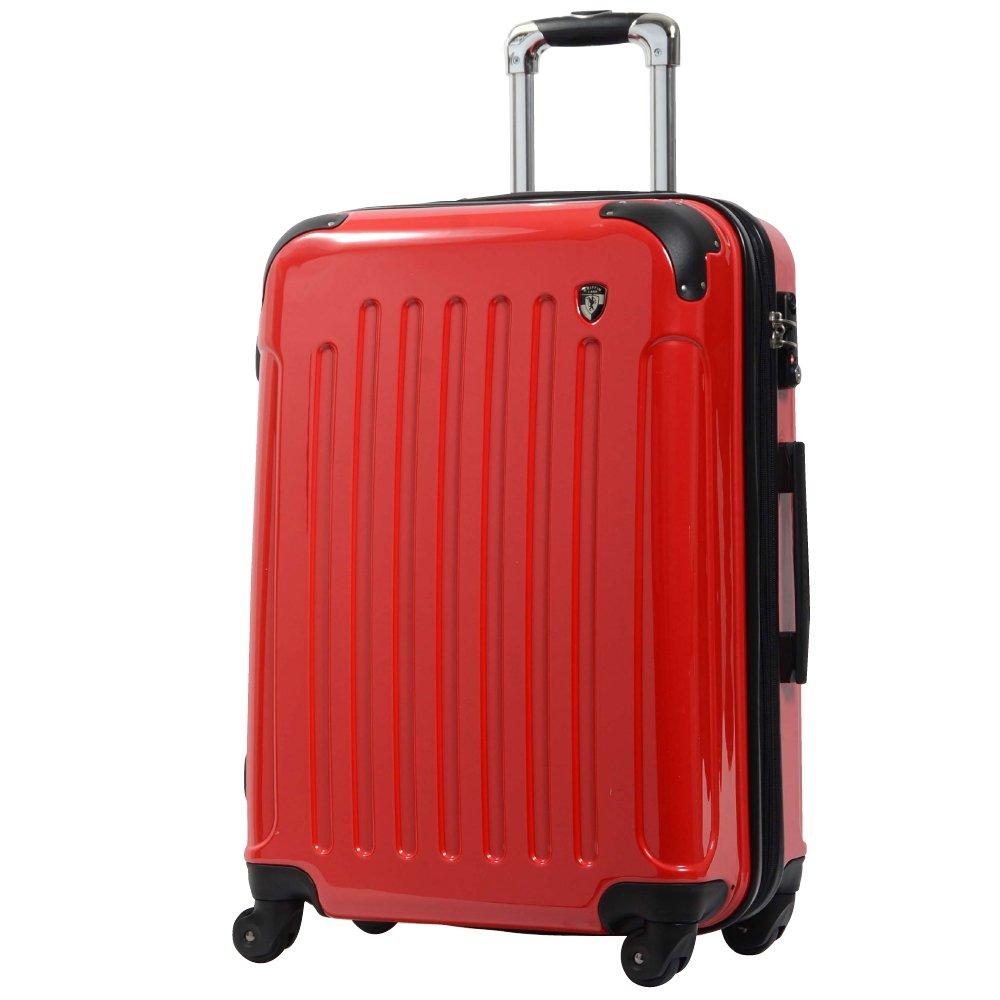 [グリフィンランド]_Griffinland TSAロック搭載 スーツケース 超軽量 ミラー加工 newFK1037 ファスナー開閉式 B003IMN0UO M(中)型|ロイヤルレッド ロイヤルレッド M(中)型