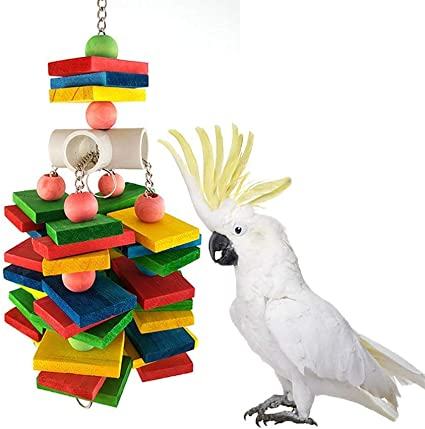 UEETEK Bird Toy Chew Toy for Parrot African Greys Budgie Parakeet Cockatiel Macaw Cage Hanging Toy