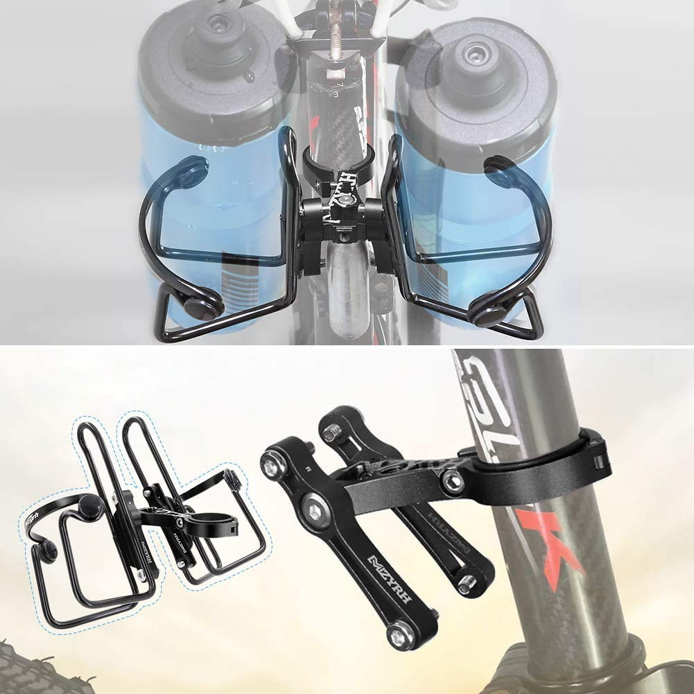 Bicycle Kettle Rack Adapter Bike Handle Bar Clamp Cycling Water Bottle Holder JE