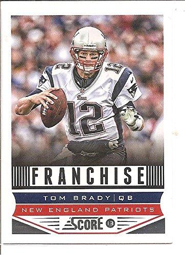 Tom Brady New England Patriots 2013 Score Football Card  285 at ... e08e87509