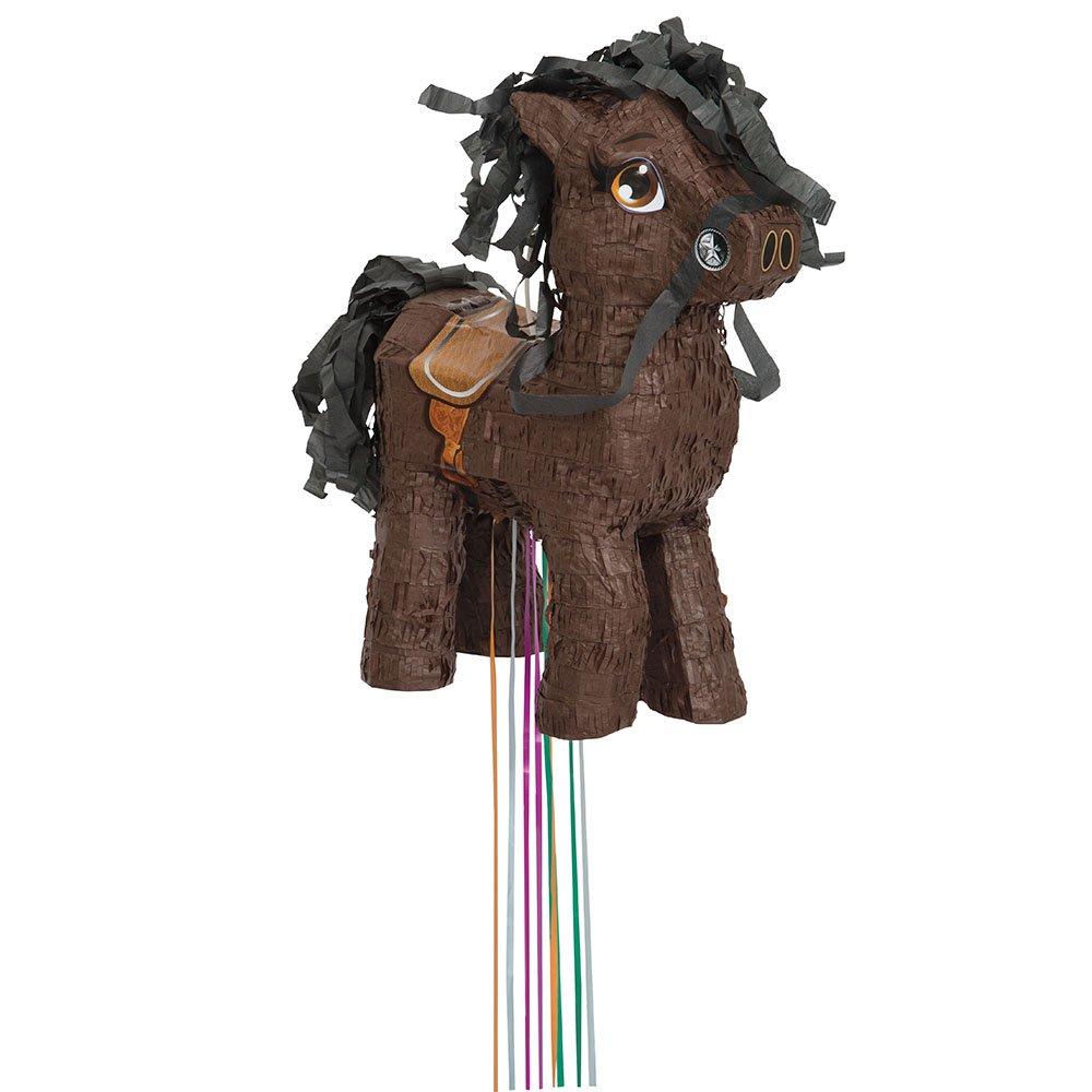 Brown Horse Pinata Pull String