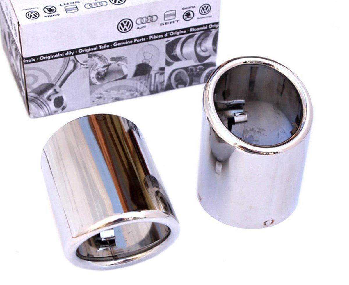 SKODA é chappement d'origine cache echappement acier inoxydable conseils d'é chappement 60mm double é chappement BLENDE polie