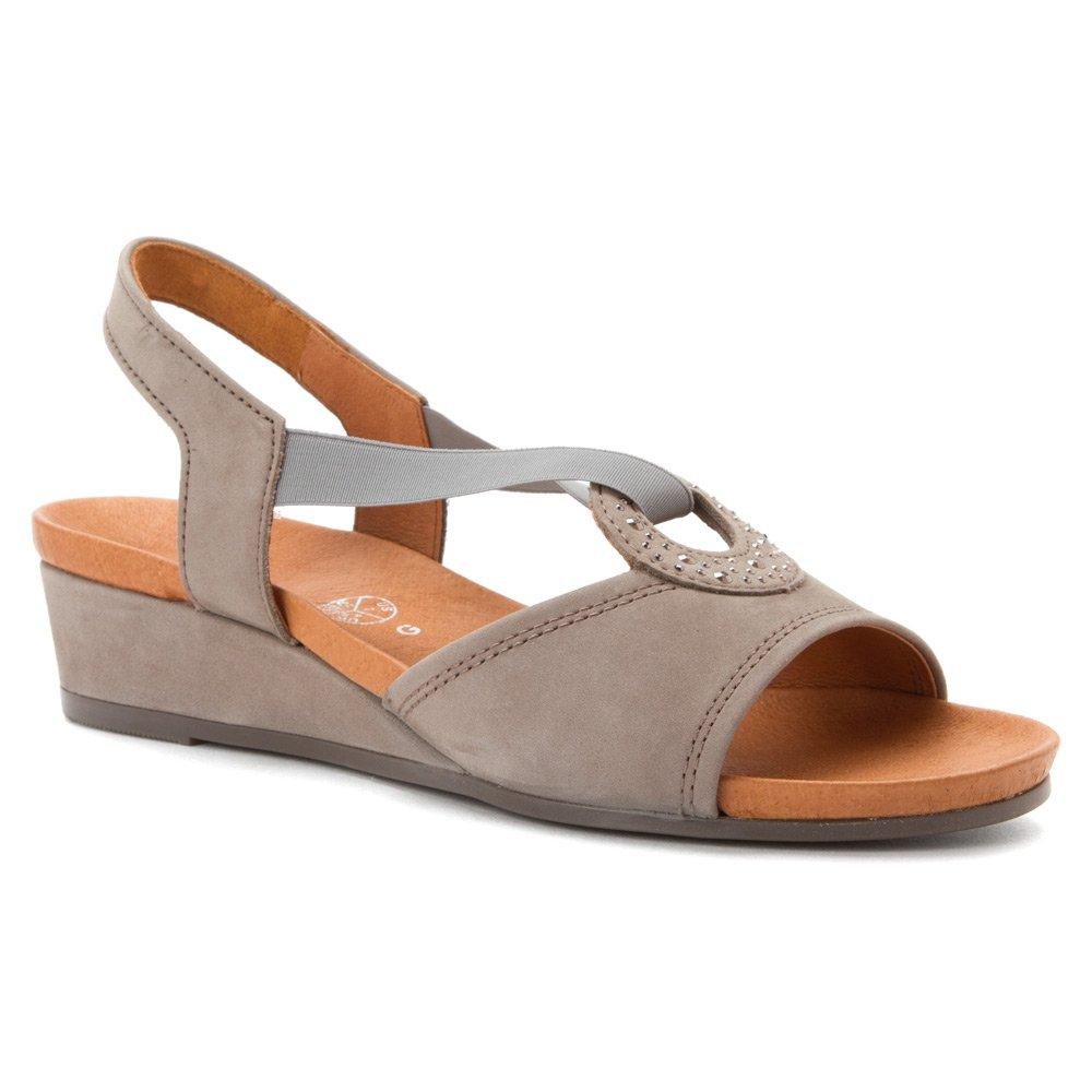 ara Women's Sutton Sandals B00NIHN8S8 8 F(M) UK / 10.5 B(M) US|Grey Nubuk