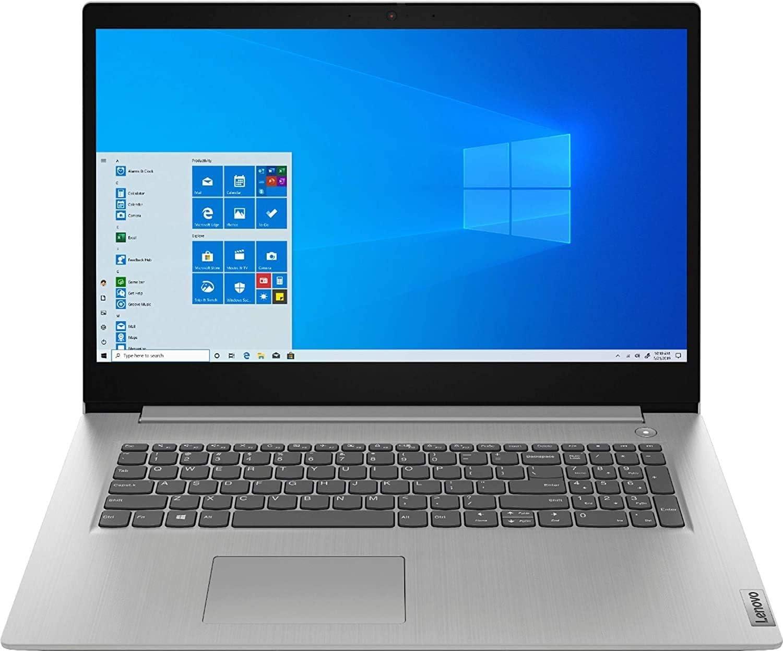 """Lenovo IdeaPad 3 17 17.3"""" HD+ Laptop Computer_ AMD Quad-Core Ryzen 7-3700U (Beats i7-8565U)_ 12GB DDR4 RAM, 256GB PCIe SSD + 1TB HDD_ Webcam_ Windows 10 S_ BROAGE 64GB Flash Drive_ Online Class Ready"""