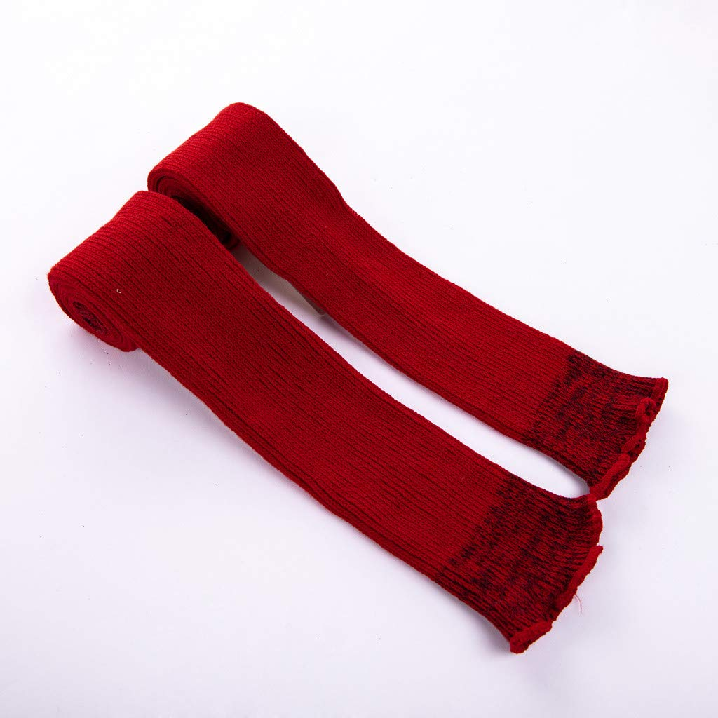 Pervobs Ladies Women Thigh High OVER the KNEE Socks Long Cotton Stockings Warm Leggings Sheer(Wine Red) by Pervobs Sock&Sockings (Image #5)