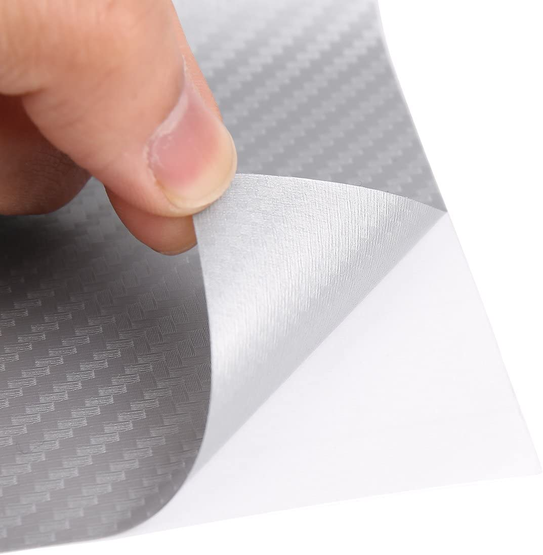uxcell 3D Carbon Fiber Bubble Free Stretchable Car Vinyl Film Sticker 152 x 60cm Red