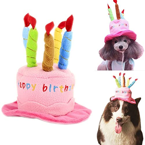 Soft Fleece Dogs Birthday Hats Pets Puppy Cosplay Cap Party Head Wear For Teddy Chihuahua Poddle
