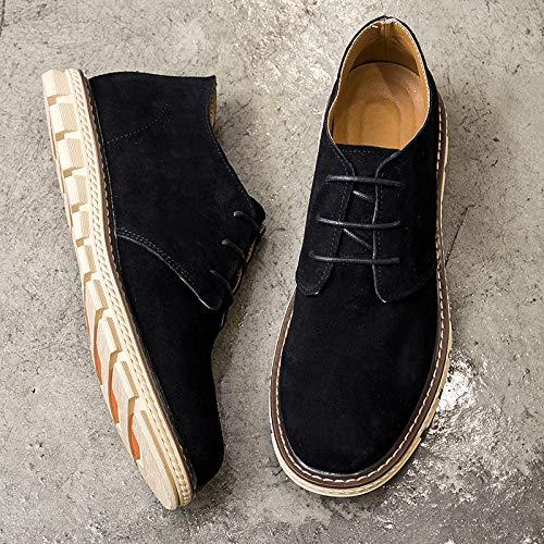 LOVDRAM Zapatos Casuales Zapatos Hombres Hombres Hombres Zapatos Otoñales Hombres Zapatos para Mareas Zapatos con Suela PU Moda, Negro, 41 cf0cc0