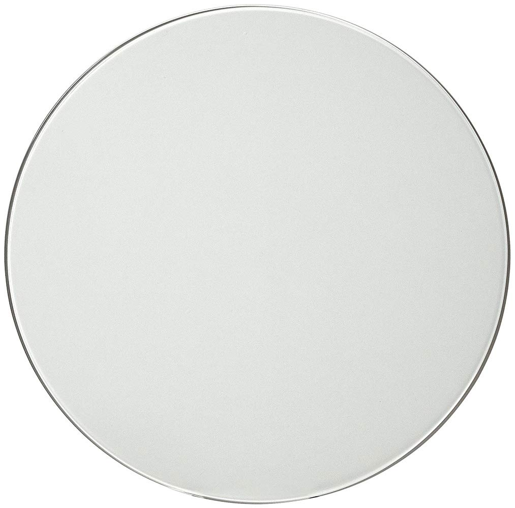 18 Inch Glass Table Top | 1/4'' Thick Tempered Polished Pencil Edge | 18'' No Bevel Premium Round Flat Circular Plate Glass | Perfect Circle by Hamilton Hills