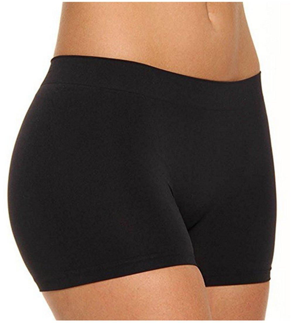 Khanomak Women's Plus Size One Size Short Length Slip Short Dance Short (OneSize Plus, Black)