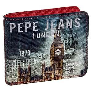 Pepe Jeans Cartera, Diseño London, Color Azul, 0.19 litros ...
