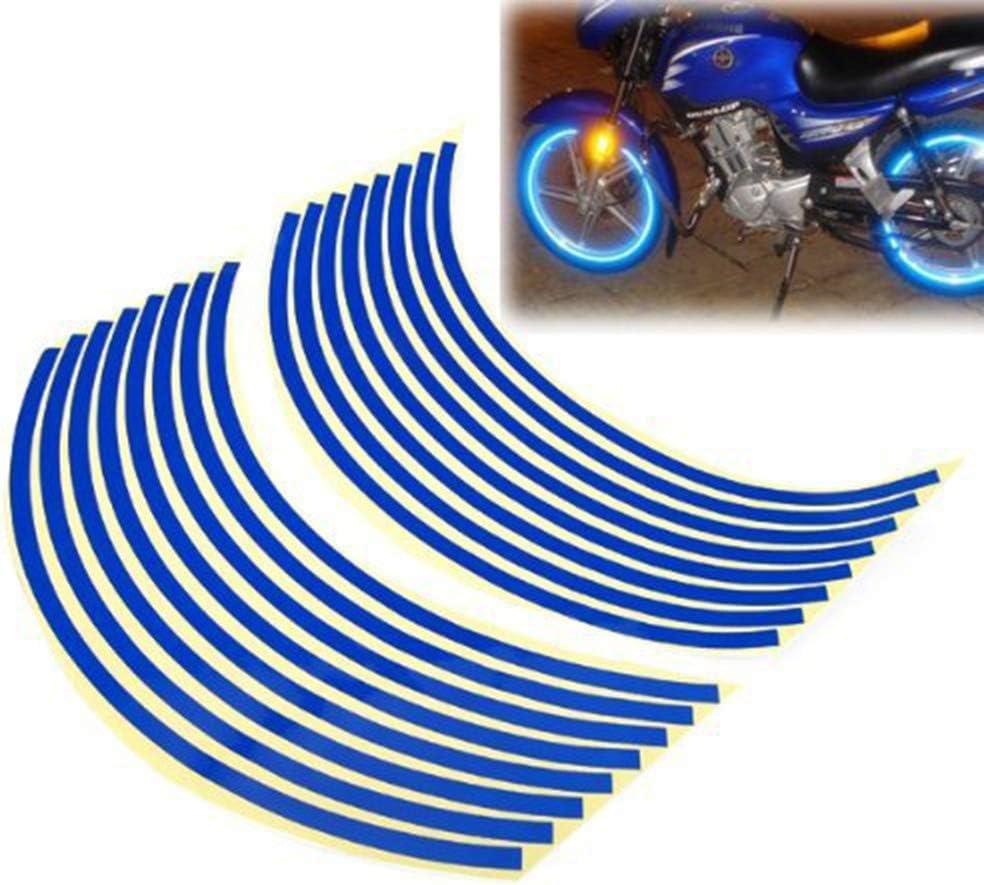 Tape Wheel Rim Sticker Motorcycle Bicycle Reflector Bike Reflective Stickers