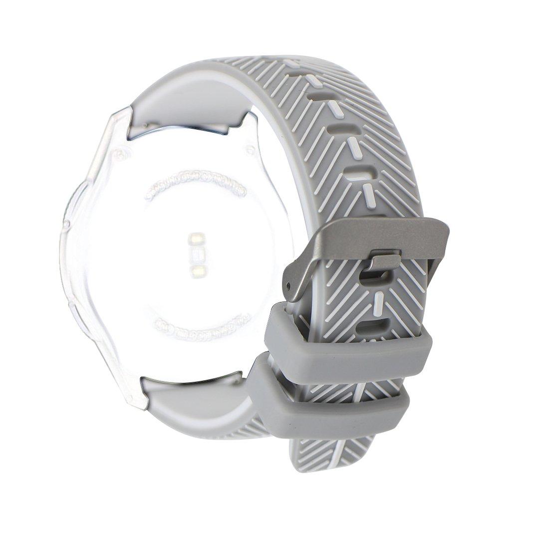 歯車s3クラシック/ Frontier用時計バンド、ピンクリボン運動22 mmソフト柔軟なシリコンフェザーパターンスマート腕時計交換バンド手首バンドSamsung Gear s3フロンティア/クラシック( Not Includeアダプタ) B074MTPMFX Samsung Gear S3 Classic/Samsung Gear S3 Frontier|Z-Grey/White Z-Grey/White Samsung Gear S3 Classic/Samsung Gear S3 Frontier