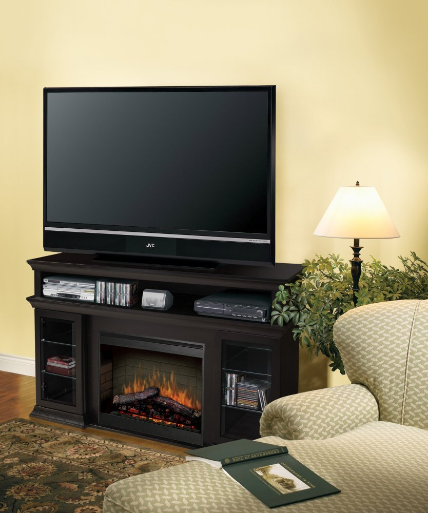 amazon com dimplex symphony media bennett tv stand with electric