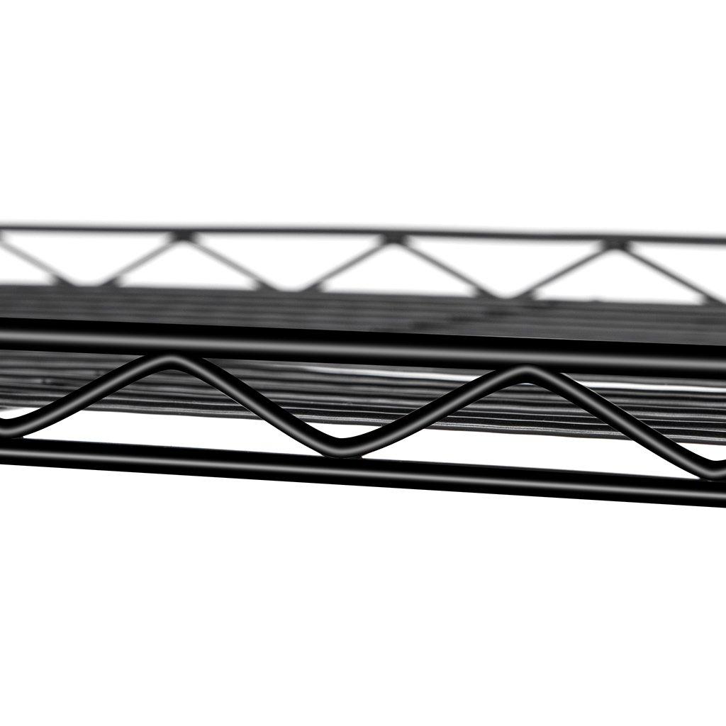 LANGRIA 5 Tier Shelving Units Storage Rack Supreme Wire Shelving Organization, Black