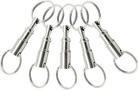 COM-FOUR® Llavero 5x con llavero doble, separables mediante un acoplamiento de llavero en el llavero de 2 llaves