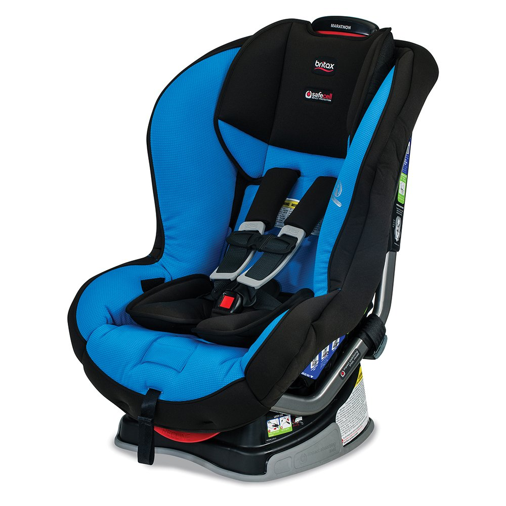 Amazon.com : Britax Marathon G4.1 Convertible Car Seat, Azul : Baby