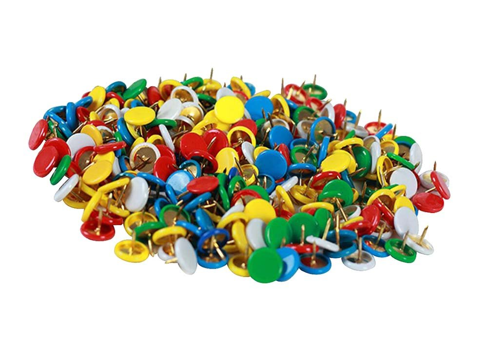 Bright-coloured Metal Push Pins/Sharp Durable Thumbtacks Pushpins/300 PCS Dragon Sonic