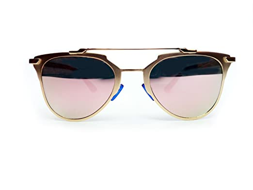 c0d41b271cb6 NEW ENERGY © NEW ROSE GOLD MIRRORED SUNGLASSES FREE CASE UK  Amazon.co.uk   Clothing