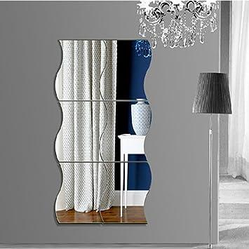 Mercurymall? Miroir Autocollant Autocollant 3D Design Moderne